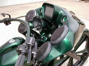 Motorcycle Custom Fairing and Speakers